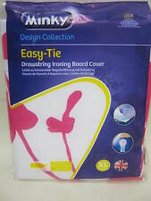 New Minky Cotton Ironing Board Cover 125cm x 45cm Easy Tie XL Assorted Designs