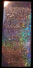 TWO Sheets CHRISTMAS CANDLES HOLOGRAM peeloffs - PEEL OFF CRAFT STICKERS
