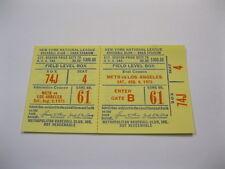 Aug 9, 1975  New York Mets vs LA Ticket Stub Shea Stadium 2