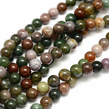 20 Indian Agate Beads Mixed Earth Tone Gemstone Beads 4mm - BD434