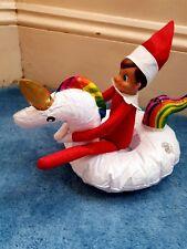 Inflatable Elf Props Unicorn Christmas On The bathroom  Shelf Accessories Bath
