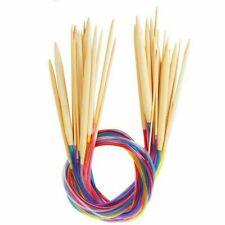 New! US Sizes 0-15 Bamboo Circular Knitting Needles 30