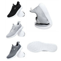 Men's Elastic Breathable Fashion Lace Up Gym Running Trainers Casual Shoes UK 13