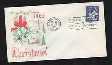 Canada 1965 5c Christmas #444 FDC Rosecraft-A cachet unaddressed
