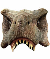 Tyrannosaurus Rex Official Jurassic World 2D Single Card Party Half Face Mask