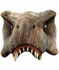 Tyrannosaurus Rex Ufficiale Mondo Giurassico 2D Carta Singola Festa Metà Viso