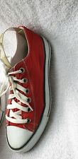 Ladies Mens Converse All Stars Red Size 7