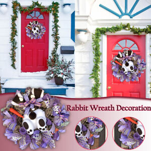 Easter Rabbit Wreath Decor Bunny Butt & Ears Wreath Garland Room Door Decoration