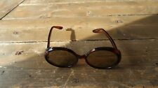 Vintage France Made Large Circle Sunglasses