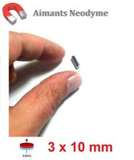 Lot aimant cylindre 3X10mm Très Puissant Neodyme N35 : Fixation, Magnet, Fimo...