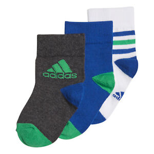 Adidas Kids Socks Boys Training Ankle 3 Pairs Running Infants Fashion DJ2271 New