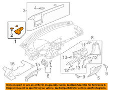 VW VOLKSWAGEN OEM 16-18 Passat Instrument Panel Dash-Switch Bezel 561857211DWY1
