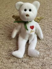 Gift Beanie Baby, White Angel Bear, Love