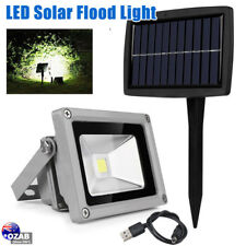 10W Solar Powered LED Flood Light Waterproof Outdoor Garden Landscape Lamp