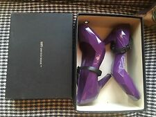 United nude Hybrid Aubergine/eggplant Purple Diamond Cut Mary Jane Heels Shoe 40