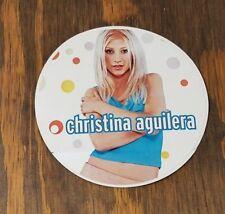 Christina Aguilera Vintage Debut Sticker 3 Inch Round 1998