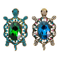 Fashion Sea Turtle Crystal Brooch Pin Colorful Rhinestones Perfect Kids Gift