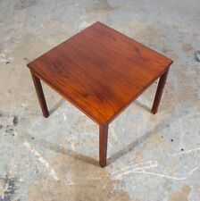 Mid Century Danish Modern End Table Side Square Rosewood Dark Wood Denmark NM
