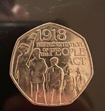 2018 REPRESENTATION OF THE PEOPLE ACT 50p COIN