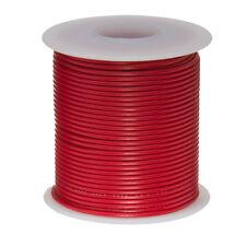 "22 AWG Gauge Stranded Hook Up Wire Red 25 ft 0.0253"" PTFE 600 Volts"