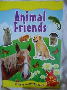 ANIMAL FRIENDS  STICKER ACTIVITY BOOK  -  Over 70 stickers!! boy girl children