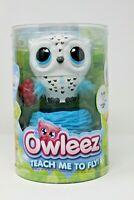 New Owleez Interactive Flying Baby Owl Pet Toy Helicopter White & Blue Teach Me