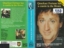 QUAKSER FORTUNE HAS A COUSIN IN THE BRONX GENE WILDER  RARE PAL VHS VIDEO