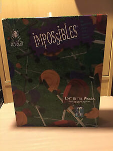 Be puzzled IMPOSSIBLES Lost in the woods 750 + 5 Pieces 1994 RARE puzzle horror