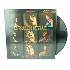 """Carmen McRae – """"Live"""" & Wailing 1968  LP S/6110  Jazz - VG"""