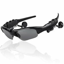 Wireless Hands-free Bluetooth Headset Stereo Headphone Sunglasses MIC Cyclist
