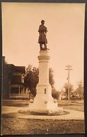 RPPC Real Photo Postcard ~ Small Town Civil War Soldier's Monument