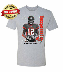 Tom Brady Tampa Bay Buccaneers T-Shirt  Super Bowl LV 55 - Heather Gray