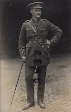 WW1 Officer General Service Labour Corps ? wears Officer's Trench Cap