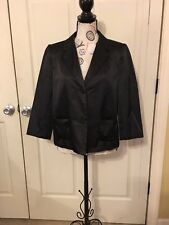 Old Navy Black/Magenta Lined Blazer Women's Lg. Cotton Poly Blend.