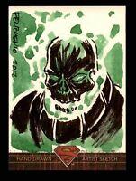 Superman: The Legend 2013 Cryptozoic DC Comics Sketch Card by Aaron Felizmenio