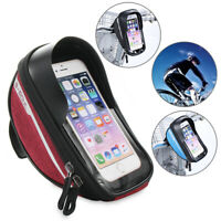 Touch Screen Cycling Waterproof Bike Pouch Phone Holder Bicycle Bag Handlebar