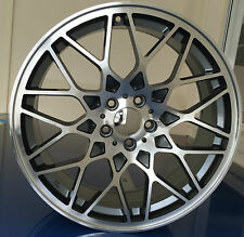 "19"" ROTIFORM STYLE GREY POLISHED ALLOY WHEELS 5X112 VW SCIROCCO AUDI A4 A6"