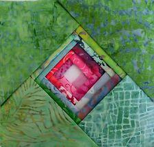 "Batik Fabric - 40 - 5 "" Charm Squares - Green/Pink Mix - Free AU Post !!"