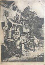 Gravure XVIIe, Van Ostade, Etching, Engraving Radierung Ets 17th