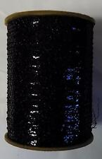 "Metallic Mylar Iris 1/8"" Wide 3000 Ypp Spool Yarn Black Shimmer (G59B)"