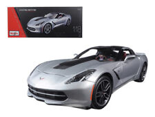 1/18 Maisto 2014 Corvette Stingray Z51 Exclusive Edition Diecast Silver 38132