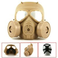 Double Filter Fan Gas Mask Respirator CS Edition Perspiration Eye Face Protector