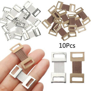 10X Replacement Elastic Bandage Wrap Stretch Metal Clips Fixation Clamp Hooks