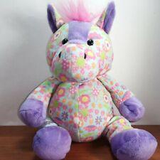 "Ganz Floral Cutie Horse Plush Colorful 11"" Stuffed Animal"