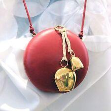 COLLECTORs * CELINE * RUNWAY 2015 ROUND MINAUDIERE BAG CLUTCH w GOLD BRASS BELLS