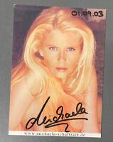 """MICHAELA SCHAFFRATH """"GINA WILD"""" Autogrammkarte 10,5 x 14,5cm handsigniert SIGNED"""
