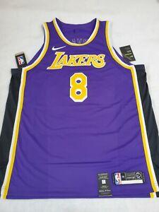 Nike Kobe Bryant LA Lakers Purple Authentic Vaporknit Jersey AV1228-504 SZ 56 2X