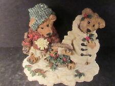 Boyds EDMUND & BAILEY GATHERING HOLLY Bear w/ Box