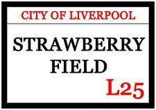 Huge Strawberry Fields Fridge Magnet 30cm x 21cm City Of Liverpool L25