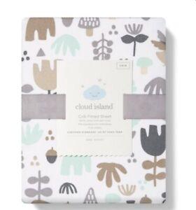 "Fitted Crib Sheet Woodland - Owls & Trees Cloud Island™ White/Beige 28"" X 52"""